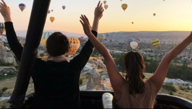 Get a bird's eye view of Cappadocia.